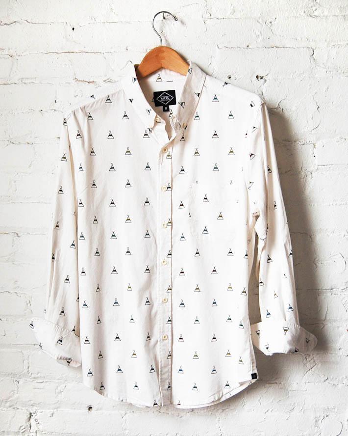 Altru bílá pánská košile dlouhý rukáv
