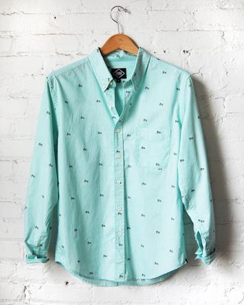 Altru zelená pánská košile dlouhý rukáv