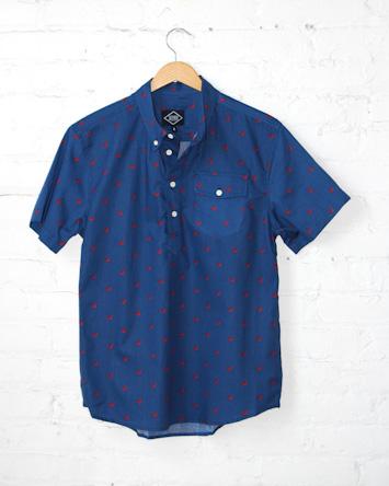 Altru modrá pánská košile krátký rukáv