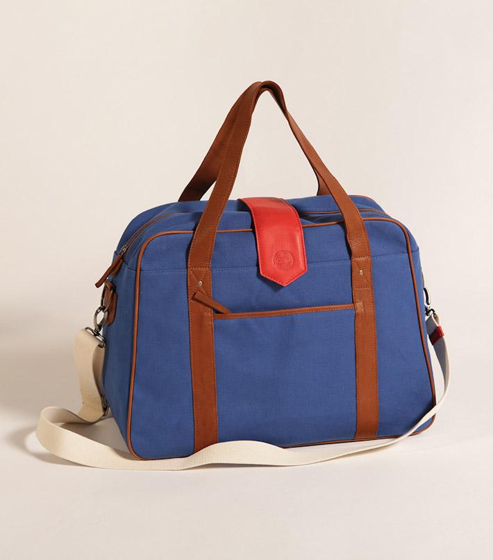 Commune de Paris pánská modrá taška