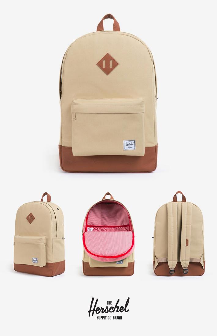 Herschel Supply batoh na záda, khaki shnědými detaily