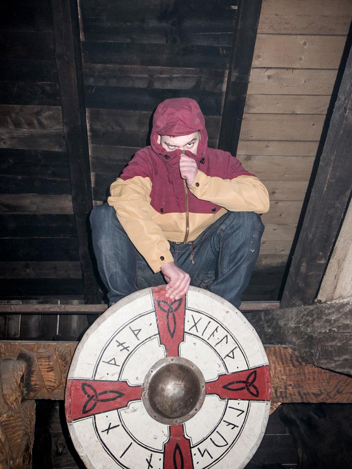 Turbokolor pánská bunda na zip béžovo červená