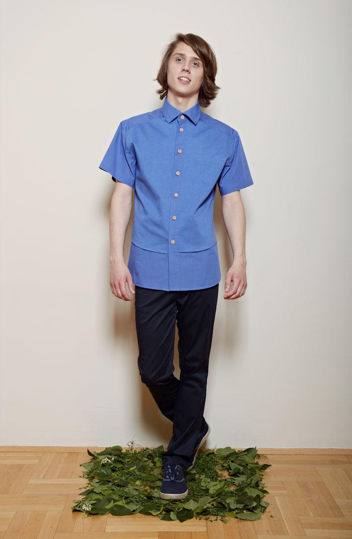 Kele – pánská modrá košile, modré kalhoty
