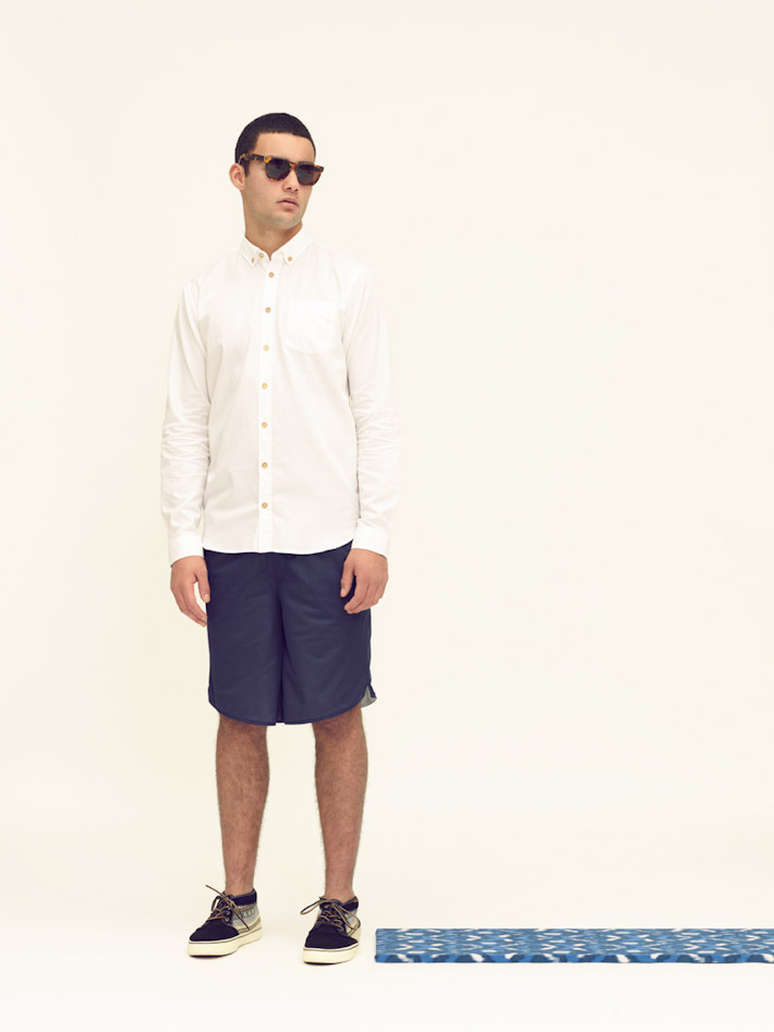 Libertine Libertine pánská bílá košile, modré šortky