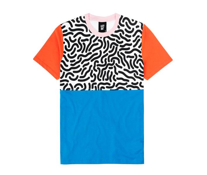 Lazy Oaf barevné pánské tričko