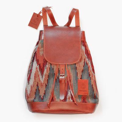 Noway kožený hnědý batoh