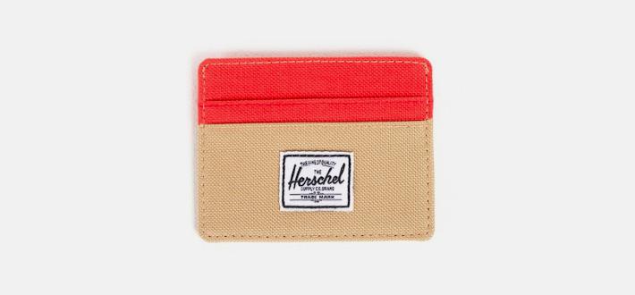 Herschel Supply peněženka khaki, červená