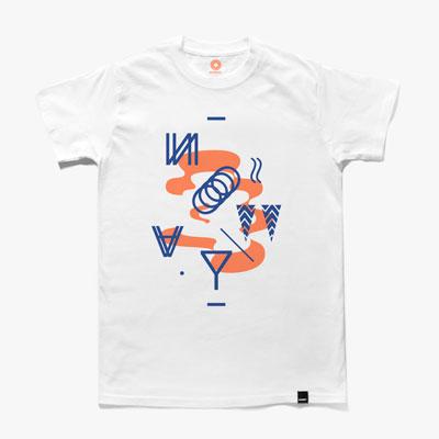 Noway bílé tričko spotiskem