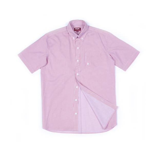 Hotel 1171 pánská růžová košile krátký rukáv