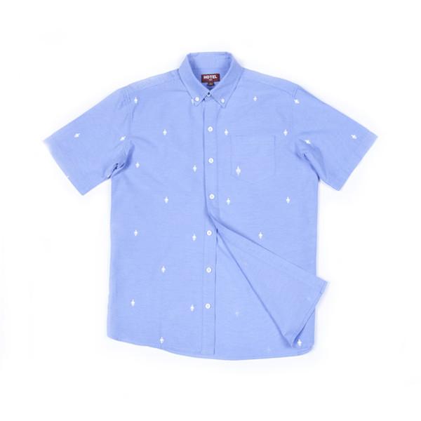 Hotel 1171 pánská světle modrá košile krátký rukáv