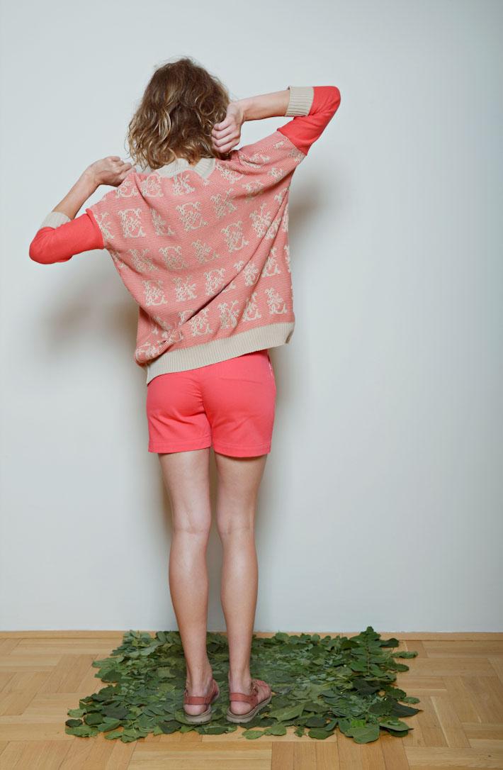 Kele dámský švetřík oranžovo růžový, dámské šortky