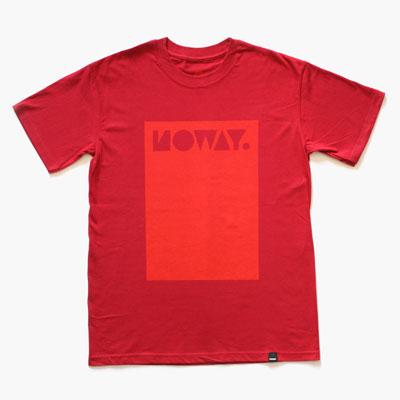 Noway červené tričko spotiskem
