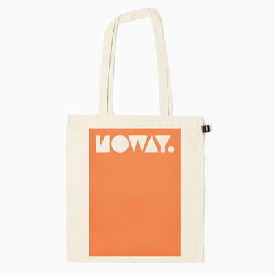 Noway plátěná bílá taška spotiskem