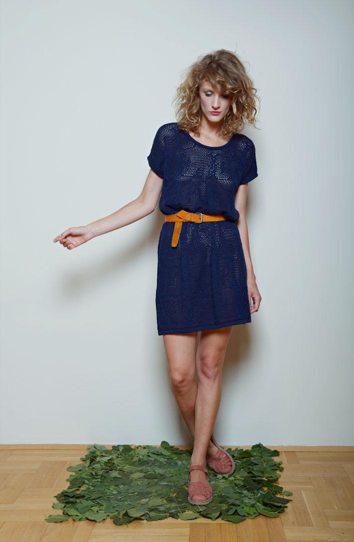 Kele modré pletené šaty
