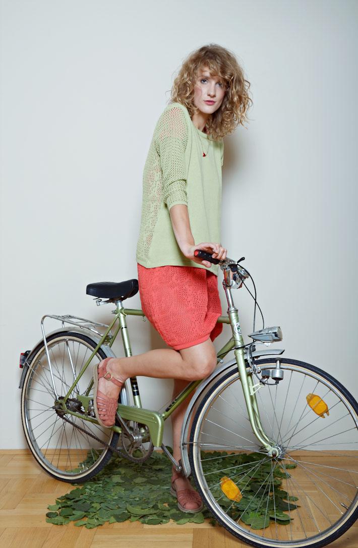 Kele dámský svetr pistáciová barva, pletené šaty