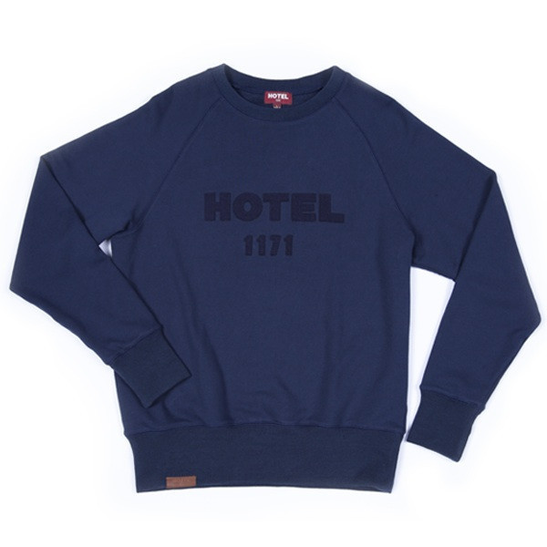 Hotel 1171 tmavě modrá pánská mikina