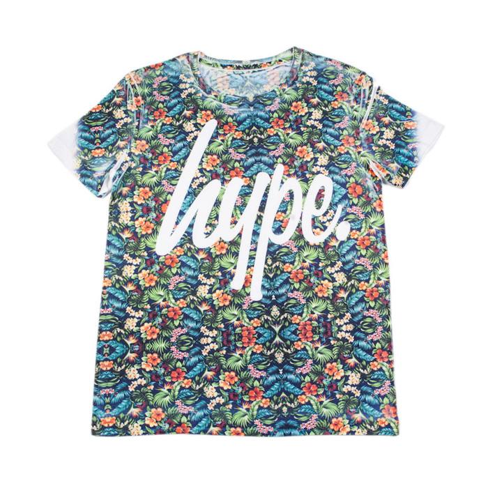 Just Hype tričko skvětinovým motivem