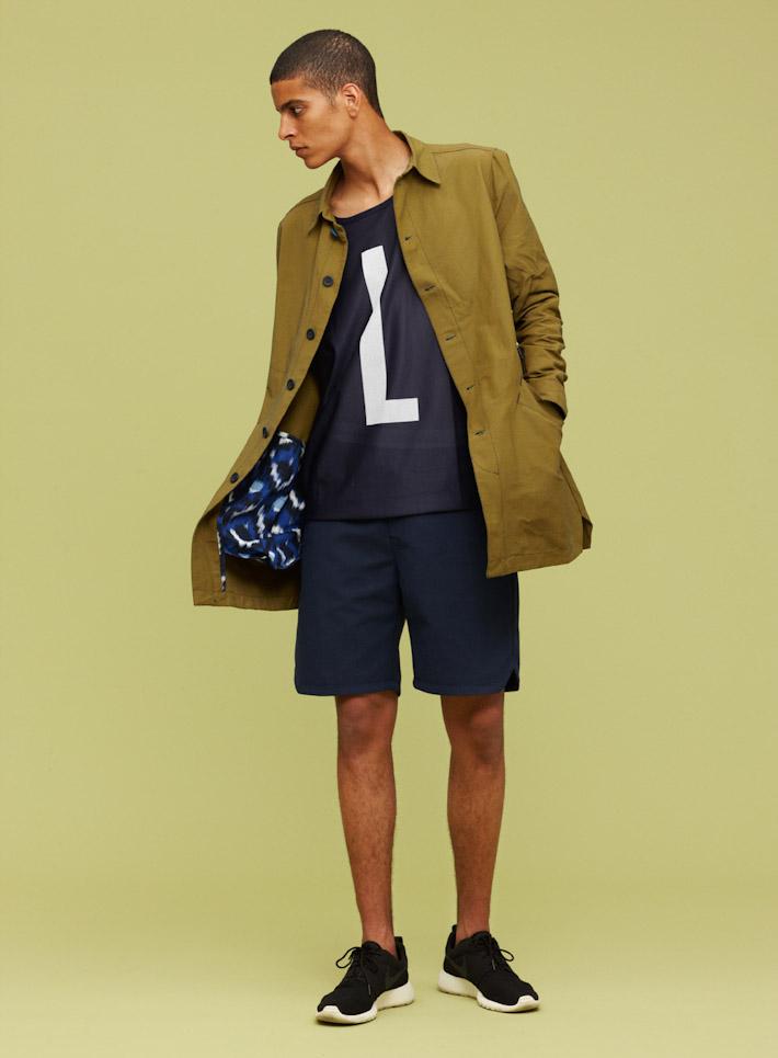 Libertine Libertine dlouhá pánská bunda, parka, modré šortky, triko
