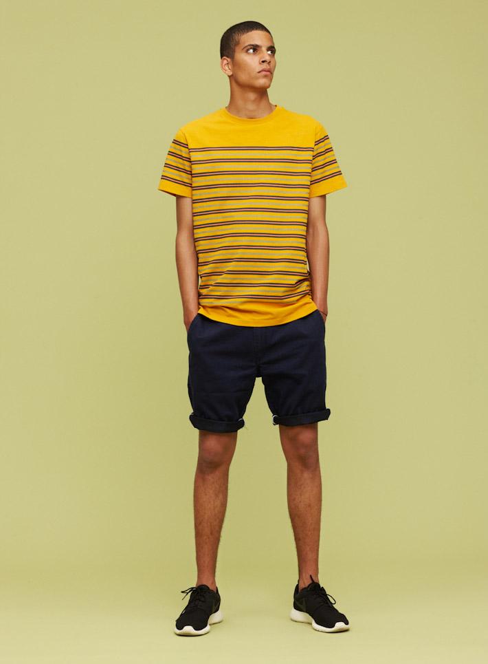 Libertine Libertine oranžové pánské tričko, modré šortky