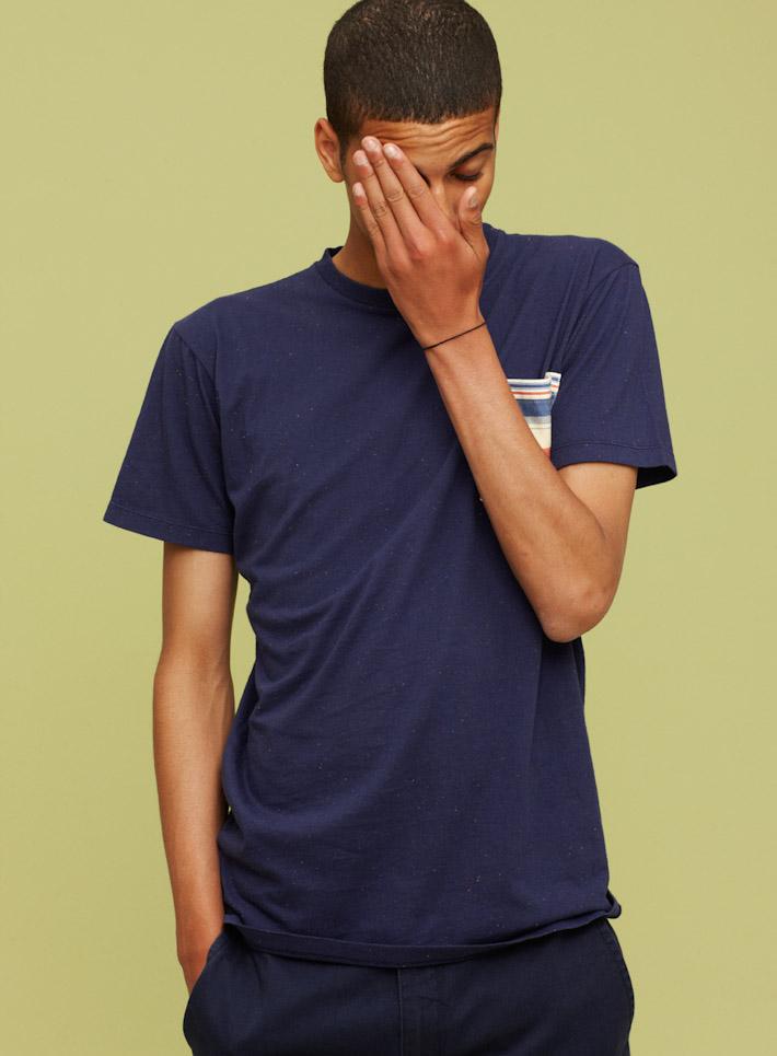Libertine Libertine modré pánské tričko skapsičkou