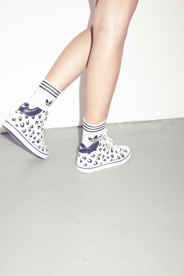 adidas Originals Blue Collection S/S 2013 — kontníkové boty dámské bílé