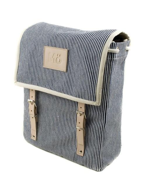 Mö Heap batoh na záda šedý pruhovaný, textilní