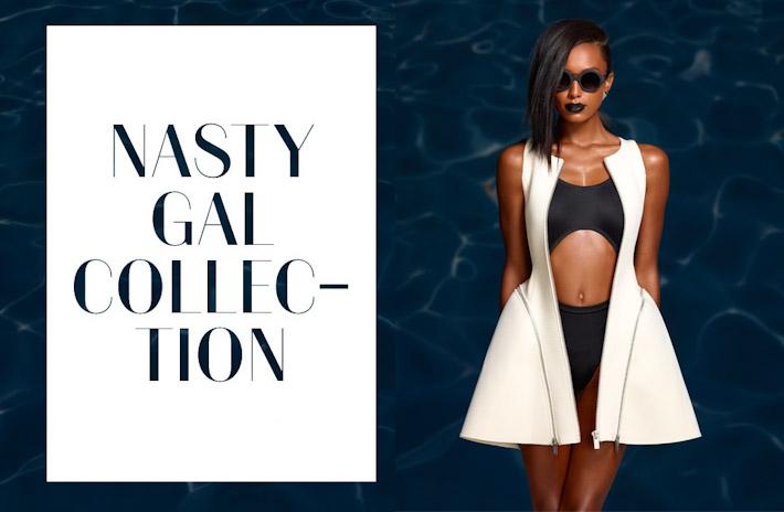 Nasty Gal In oblečení, dámské bílé šaty, černé plavky