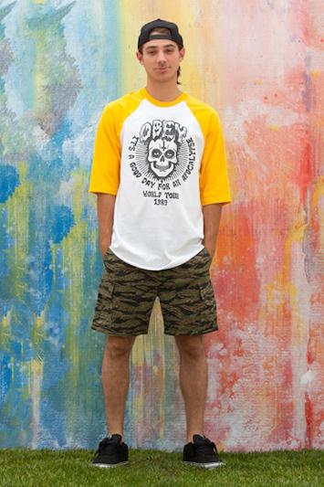 Obey pánské tričko  spotiskem, vzorované šortky