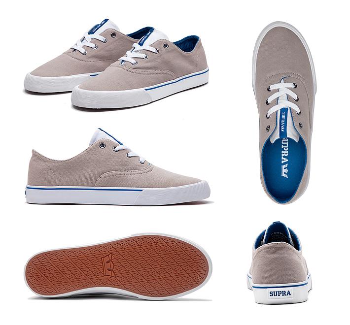 Supra Wrap boty pánské adámské cobblestone dark blue white béžové