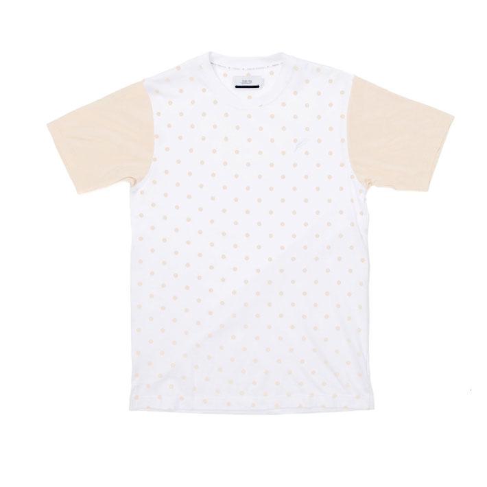 Publish pánské bílé tričko spuntíky, pískové rukávy