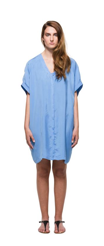 Sca Ulven dámské bledě modré šaty