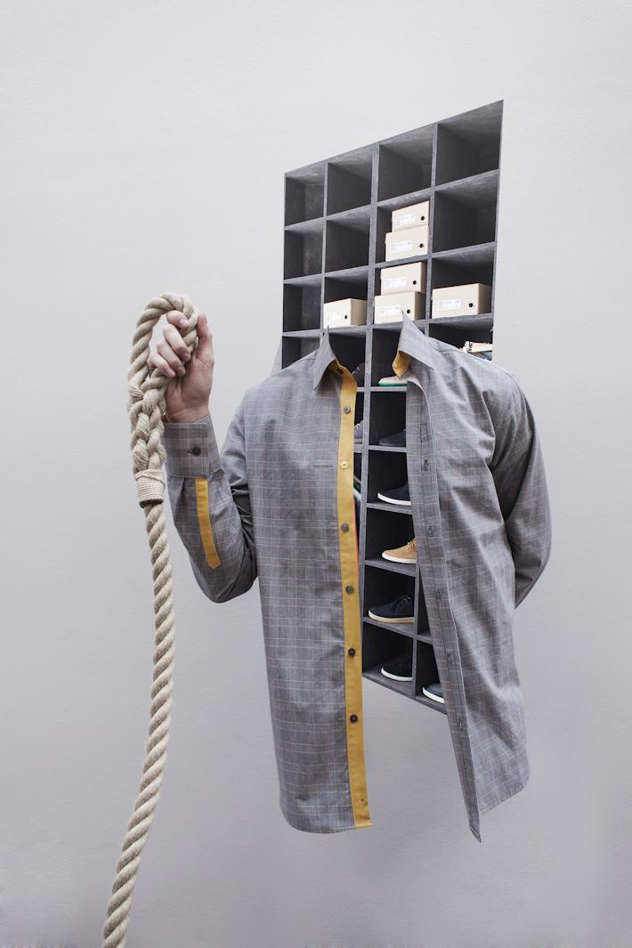 Kristina K x Basmatee pánská šedá košile