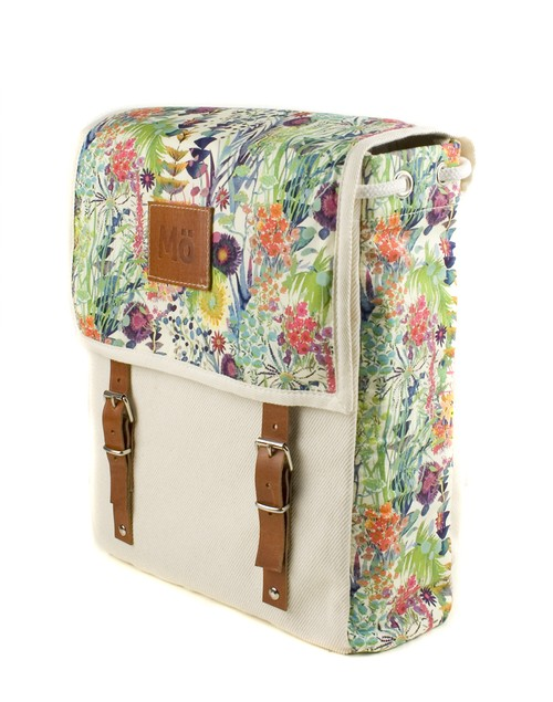 Mö Heap barevný batoh na záda skvětinovým vzorem