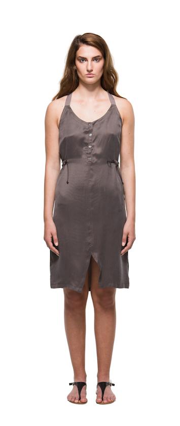 Sca Ulven dámské šaty sramínky bronzové barvy