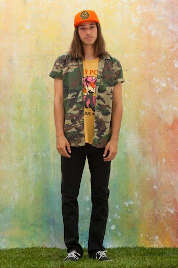 Obey pánský nátělník, jeansové střižené šortky