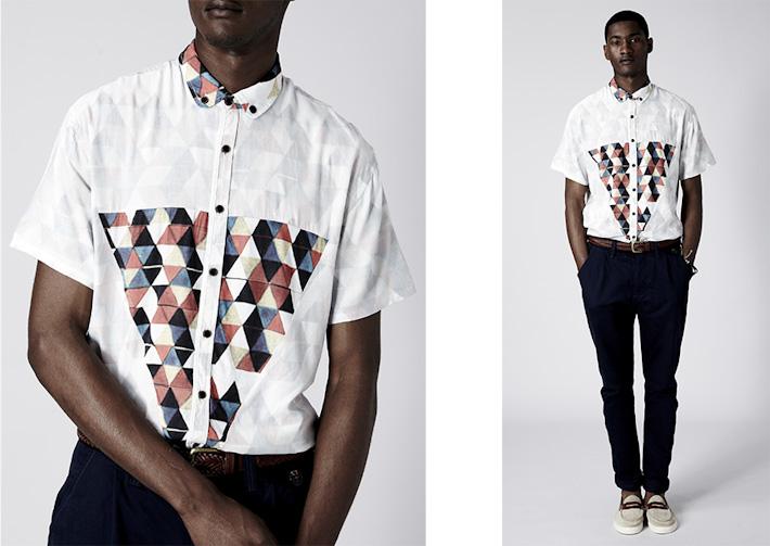 064a856ac27 Volklore pánská originální košile se vzorem