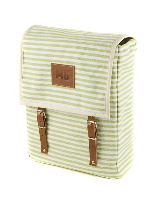 Mö Heap batoh ze světle zelenými pruhy, textilní