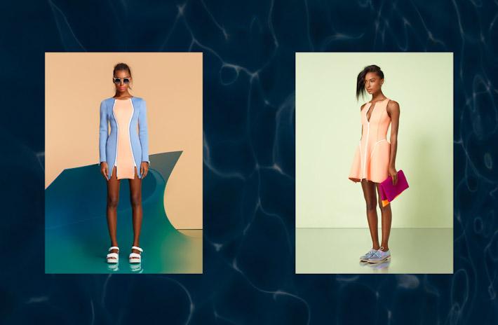 Nasty Gal, In oblečení, dámské modré šaty, meruňkové šaty