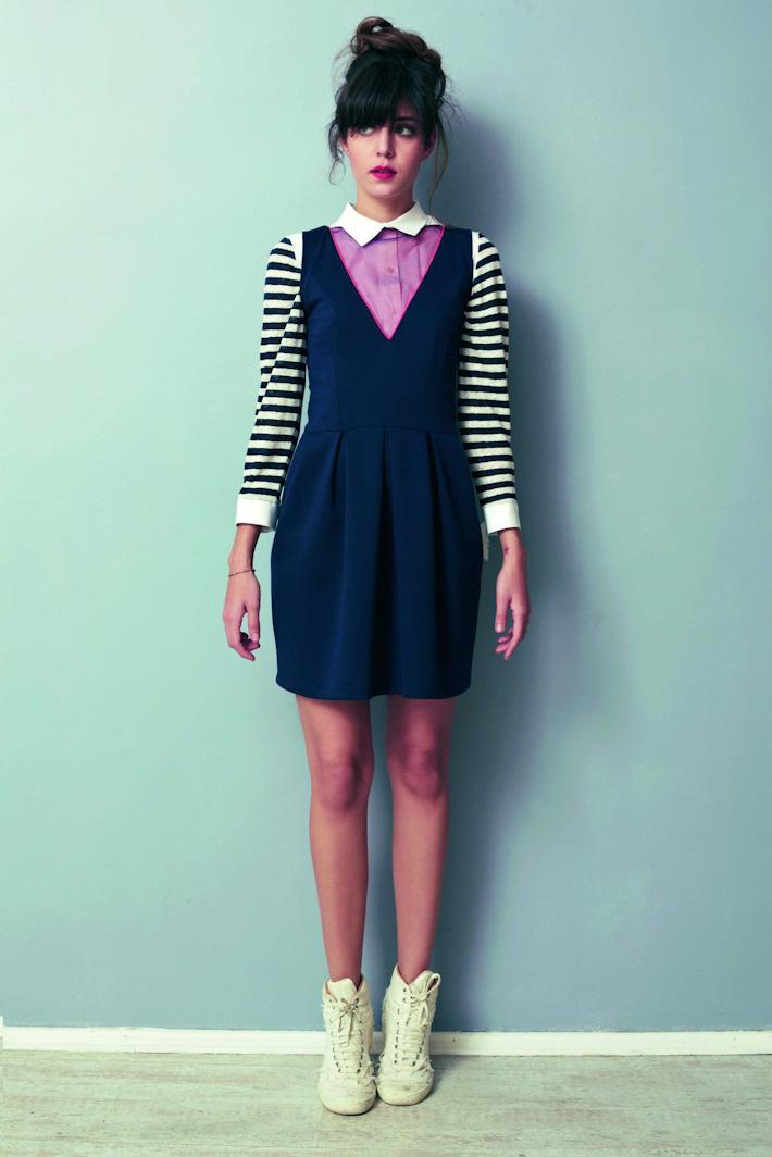 Asli Filinta dámské originální modré šaty