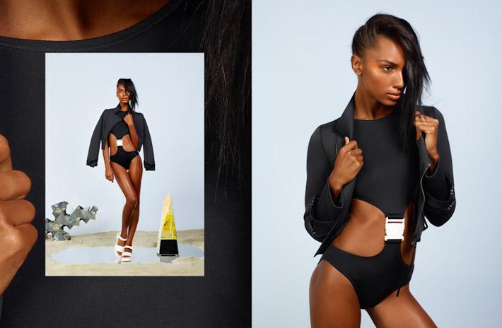 Nasty Gal, In oblečení, dámské černé dvoudílné plavky, černá dámská bunda