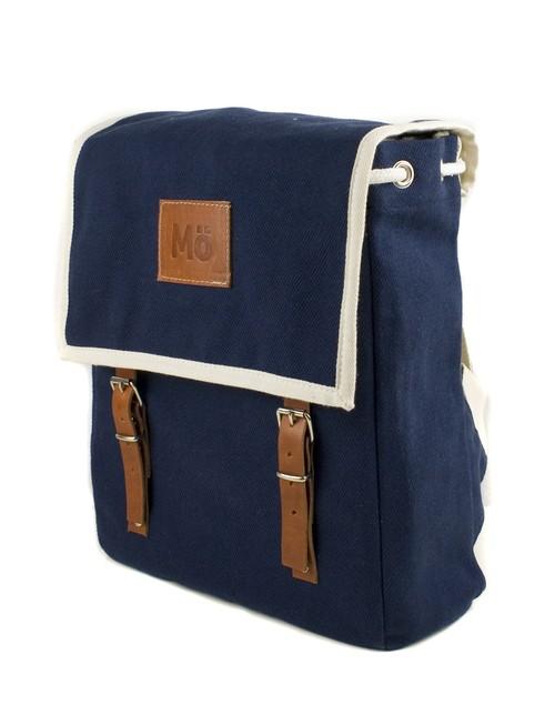 Mö Heap modrý textilní batoh na záda