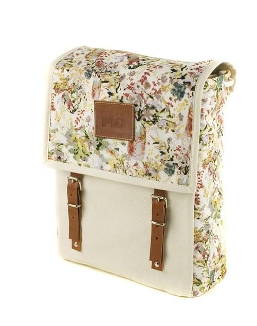 Mö Heap krémový batoh sbarevným květinovým vzorem