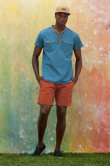 Obey pánská košile károvaná, gepardí šortky