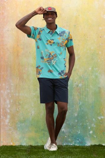 Obey pánská košile se vzorem, tmavě modré kraťasy