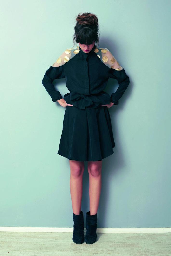 Asli Filinta dámské černé šaty
