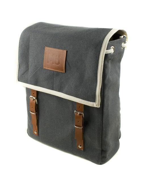 Mö Heap šedý textilní batoh