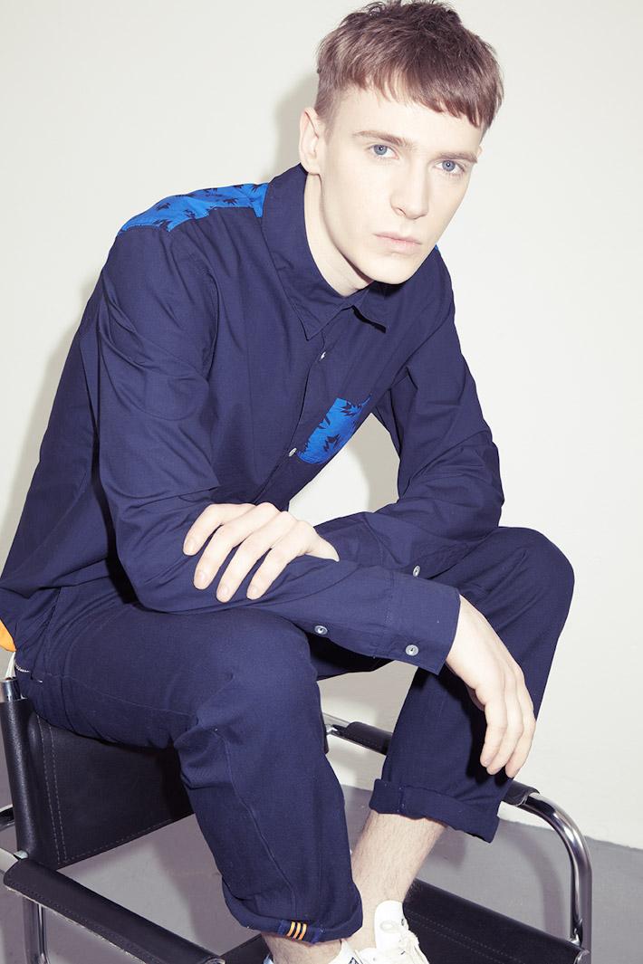 adidas Originals Blue Collection S/S 2013 — pánská modrá košile, modré kalhoty