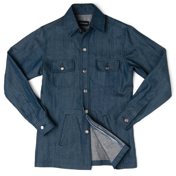 Outclass jeansová pánská bunda modrá