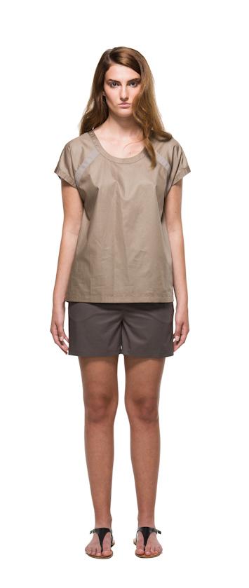 Sca Ulven dámské tričko ašortky bronzové barvy