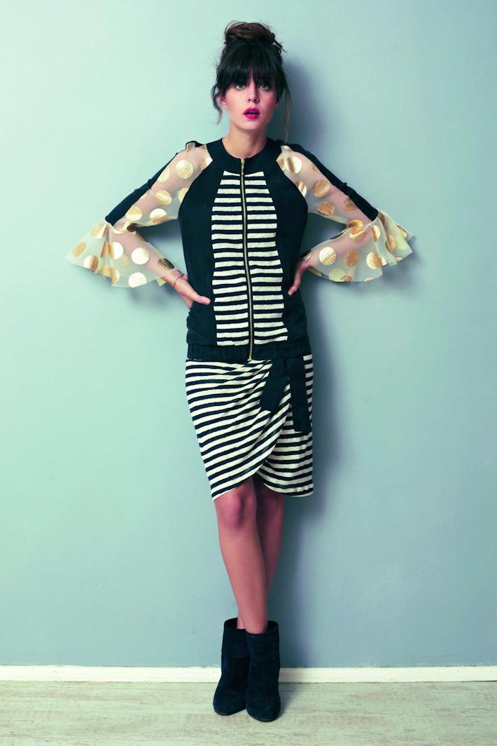 Asli Filinta dámské pruhované šaty